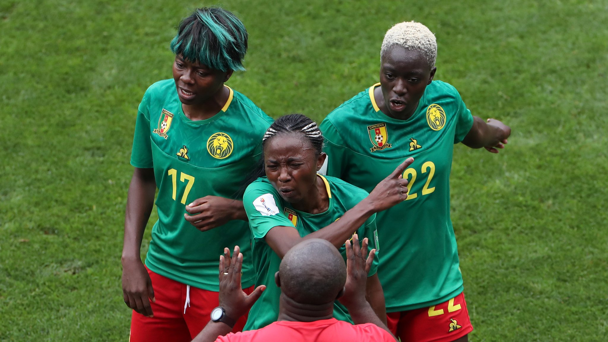 competitive price 7e4c9 6e67c Women s World Cup  Fifa to look into Cameroon behaviour in England defeat -  Fifa says it is