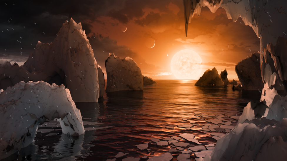Planeta del sistema TRAPPIST-1. Foto: NASA/JPL-Caltech