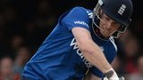 Eoin Morgan plays a shot