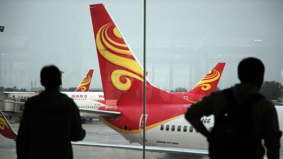 Hainan Airlines, una de las aerolíneas más grandes de China, es propiedad del grupo HNA.