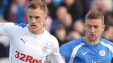Rangers forward Dean Shiels and Queens Stephen McKenna vie for possession
