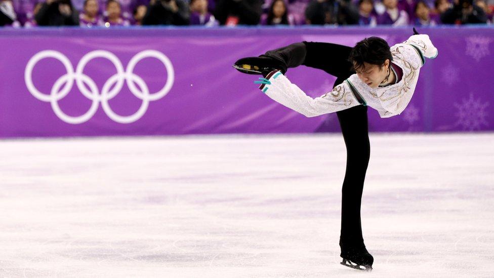 羽生目前是男單花滑總成績的世界紀錄保持者。