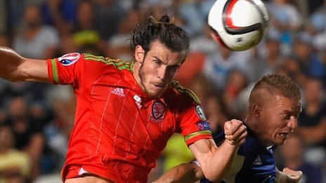 Gareth Bale scores for Wales against Cyprus