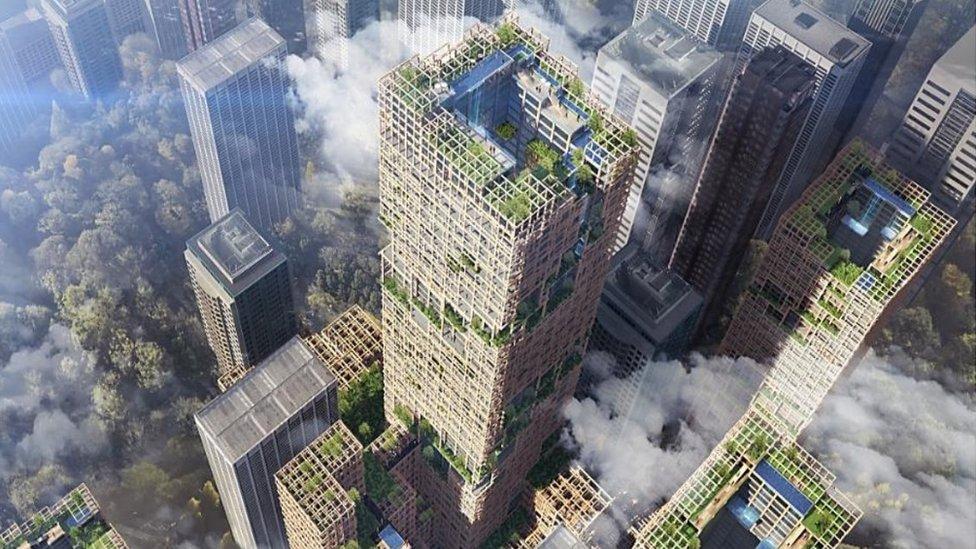 У Токіо хочуть збудувати найвищий дерев'яний хмарочос