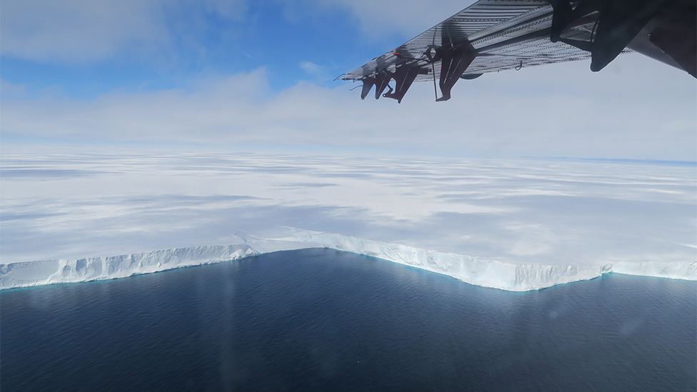 Brunt Ice Shelf front
