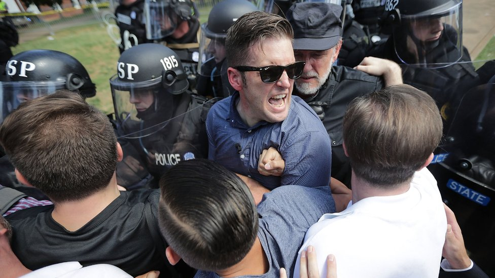 El supremacista blanco Richard Spencer