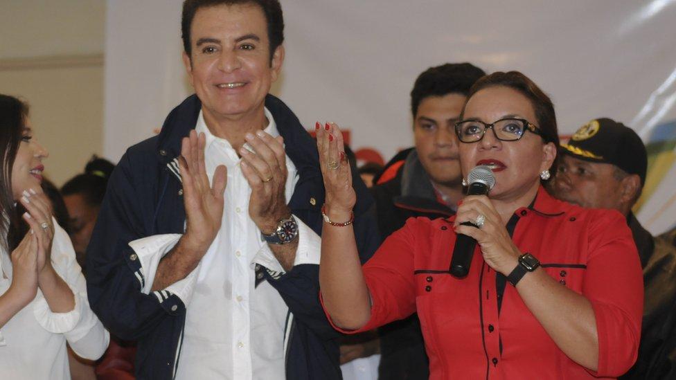 Xiomara Castro y Salvador Nasralla.