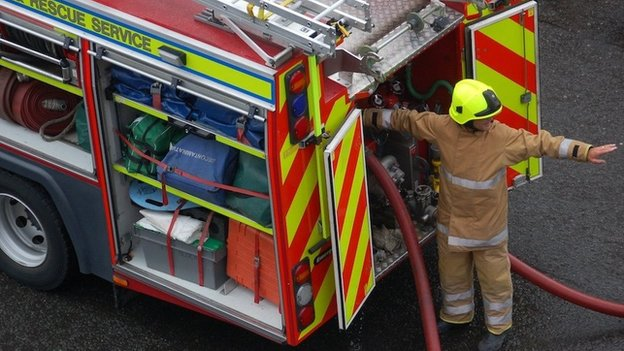 Firefighters tackle blaze at energy plant in Dunbar