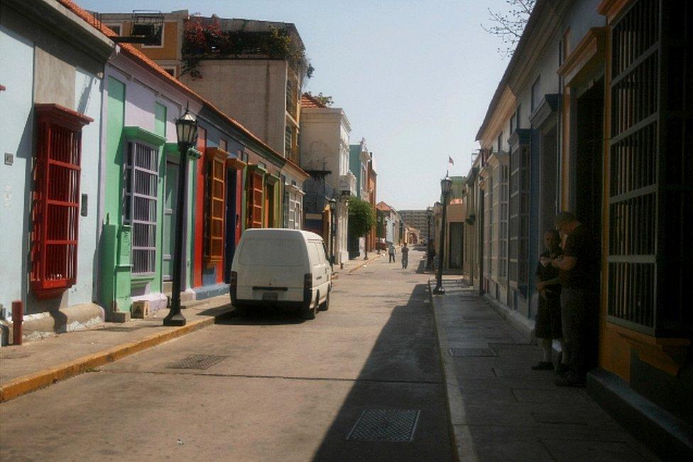 Calle en la que vivió Juan Carlos Sánchez Latorre en Venezuela. (Foto: Humberto Matheus)