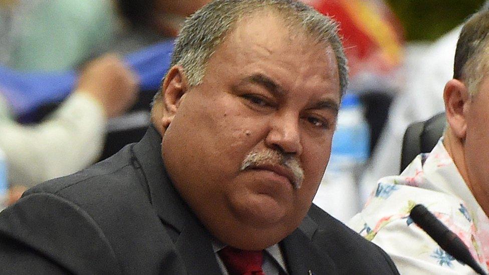 Nauru's President Baron Waqa