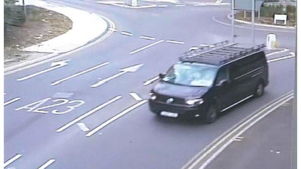Surrey police hunt after boy 'seen taken into van'