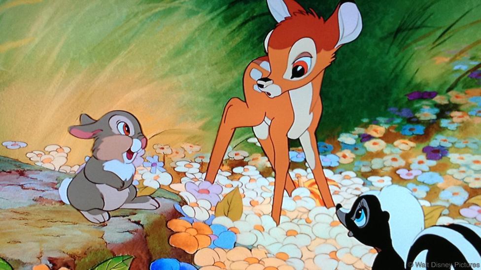 Un fragmento de la película Bambi