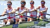 Great Britain's men's four at last month's World Cup