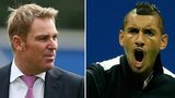 Shane Warne and Nick Kyrgios