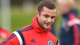 Shaun Maloney trains with the Scotland squad