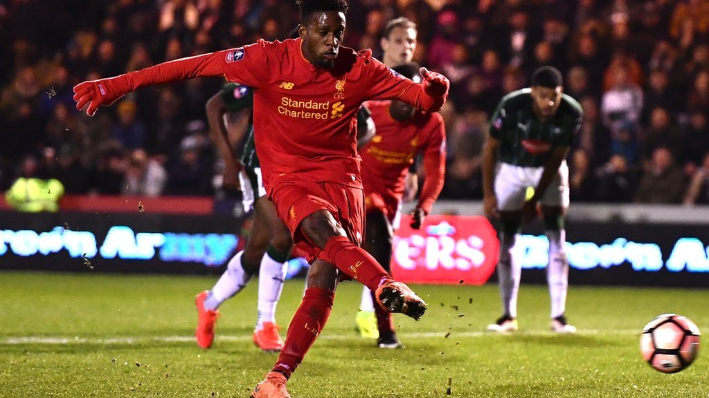 Watch Origi have his penalty saved at Plymouth