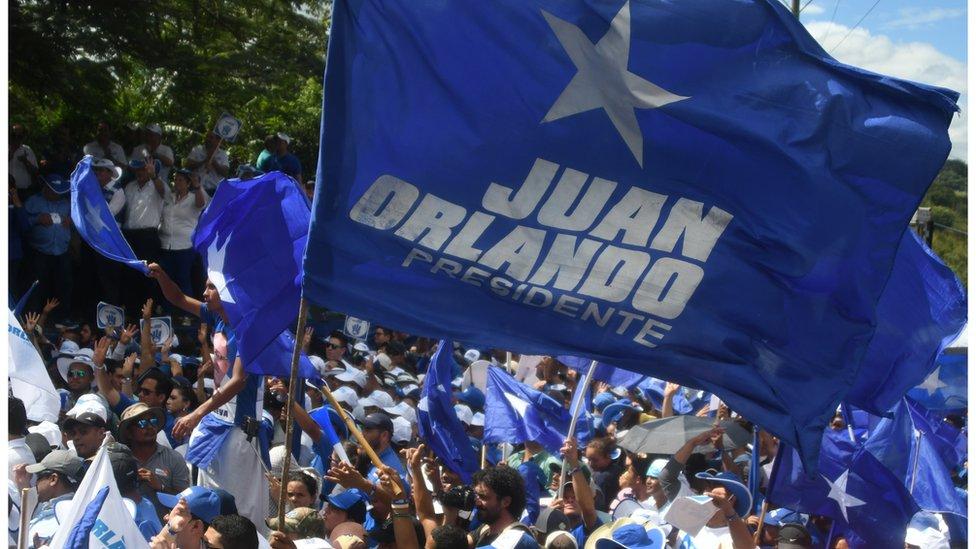 Evento de campaña de Juan Orlando Hernández.