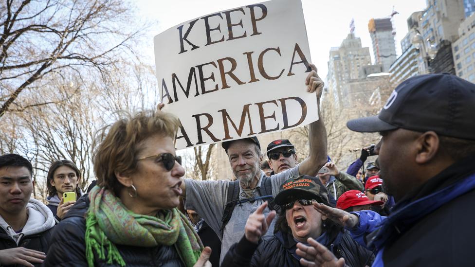 """""""Mantiene a Estados Unidos armado"""", dice uno de los defensores de armas en el país."""