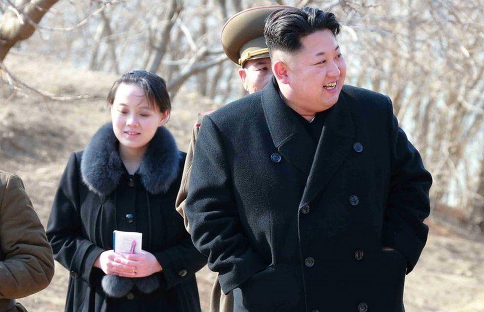 Kim Jong-un y su hermana