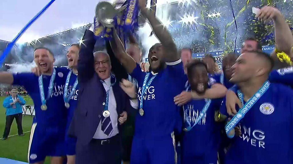 Leicester City 3-1 Everton: Foxes lift Premier League trophy