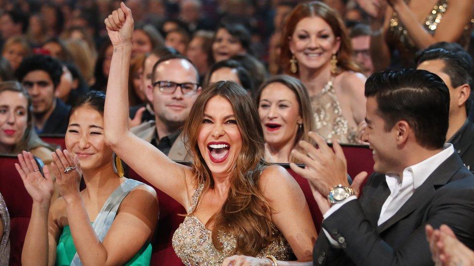 Sofía Vergara en la entrega de los People's Choice Awards, enero de 2017