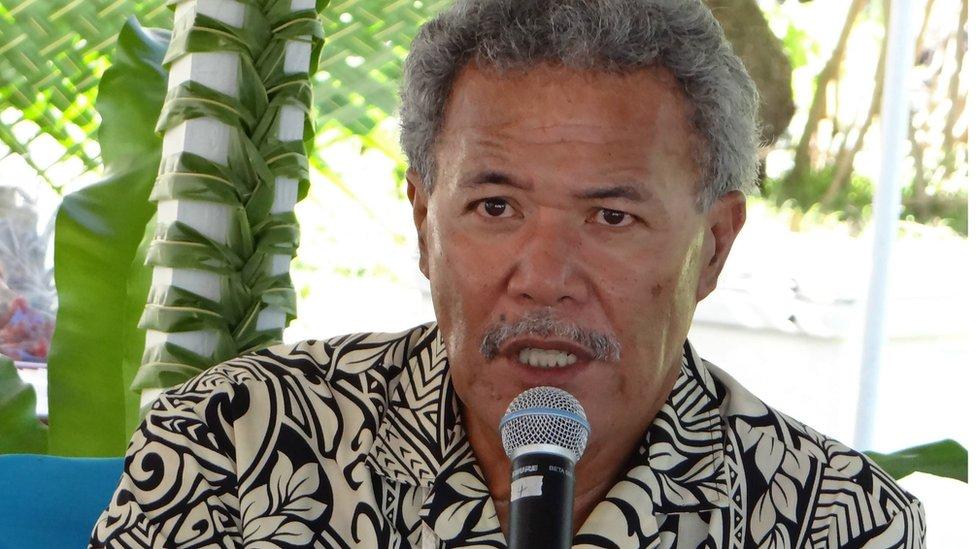 Tuvalu's Prime Minister Enele Sosene Sopoaga