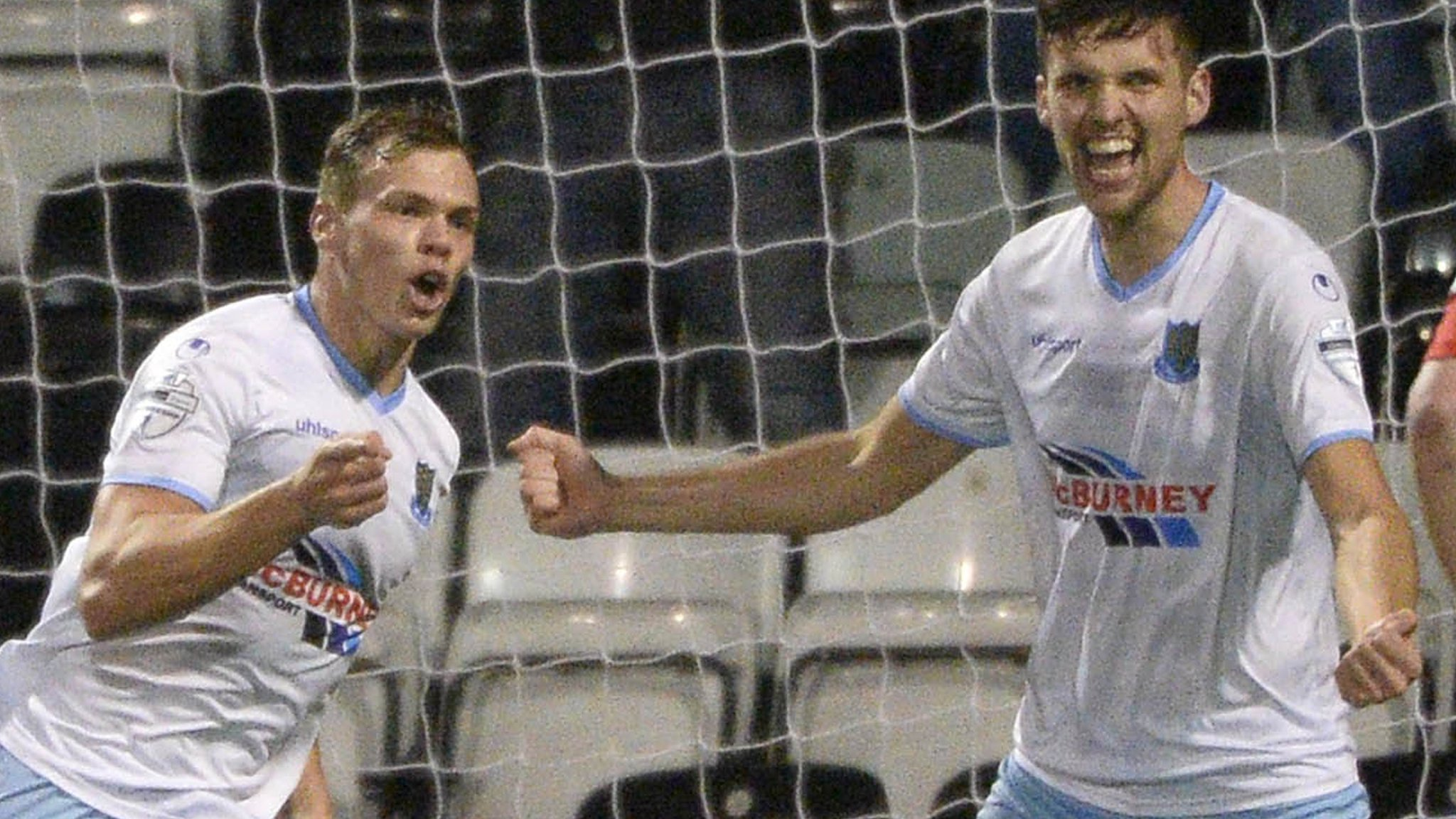 League Cup semi-finals: Ballymena United and Linfield reach decider with one-goal wins