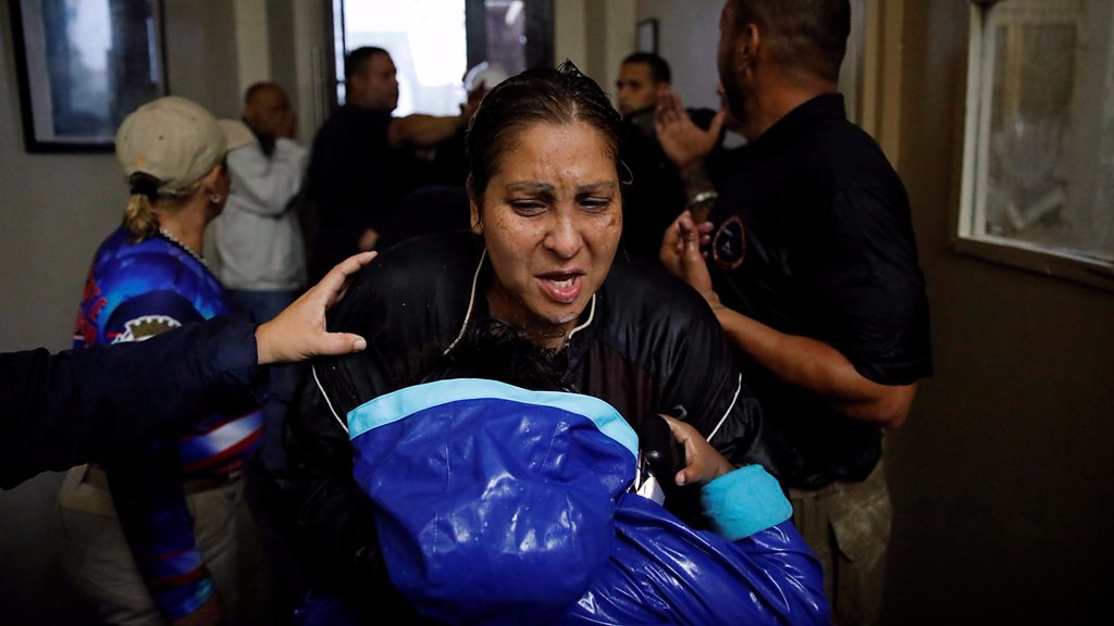 Hurricane Maria knocks out power in Puerto Rico