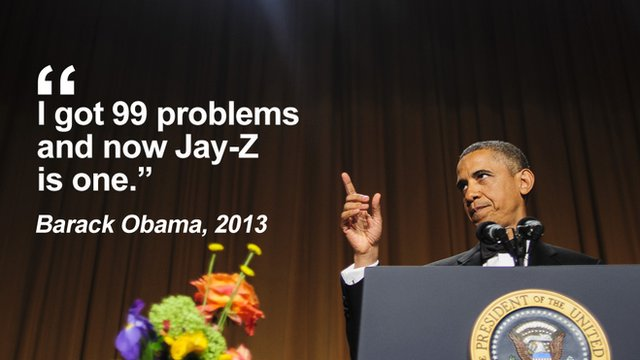 "Getty Images - Obama: ""I got 99 problems and now Jay-Z is one"""