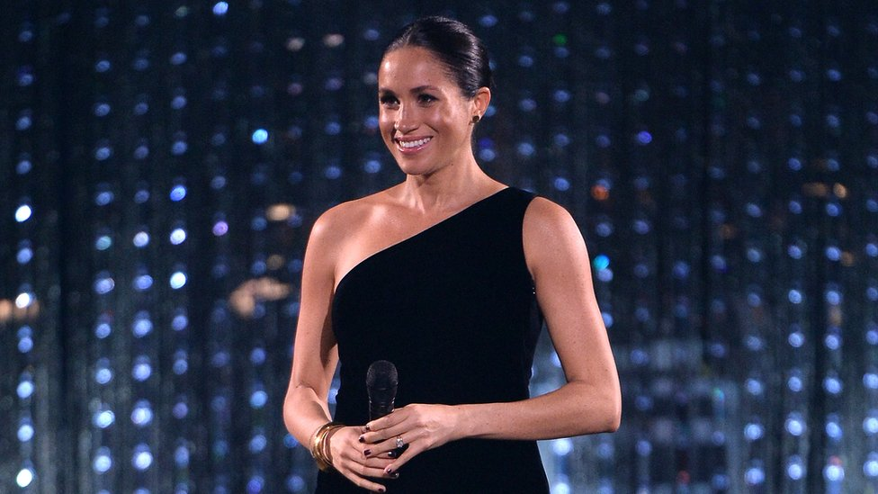 Duchess of Sussex makes British Fashion Awards appearance