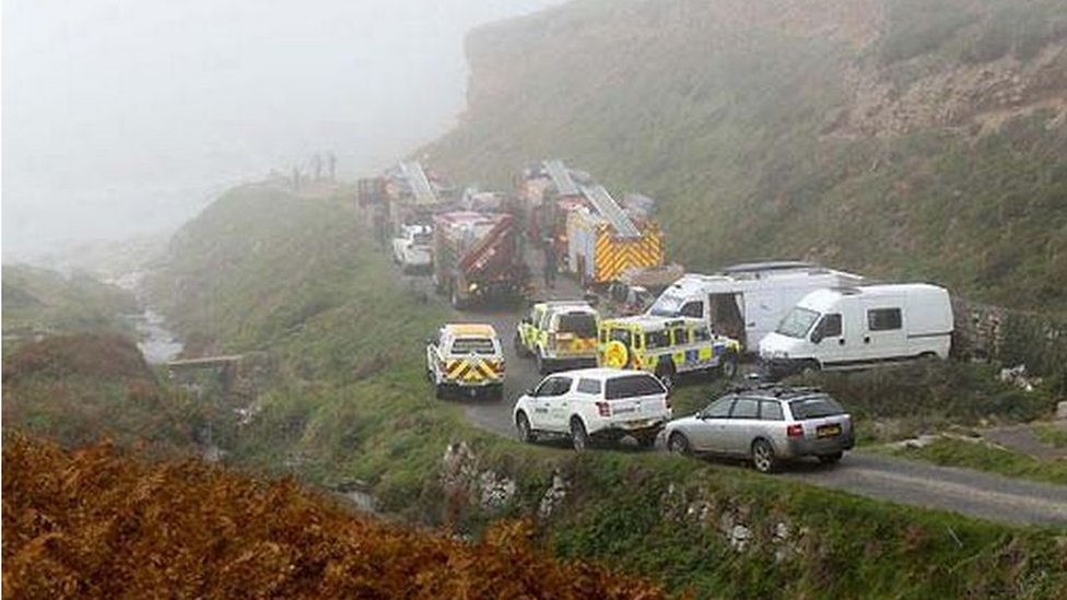 Man falls 50ft down disused mineshaft in west Cornwall