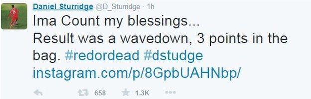 Daniel Sturridge on Twitter