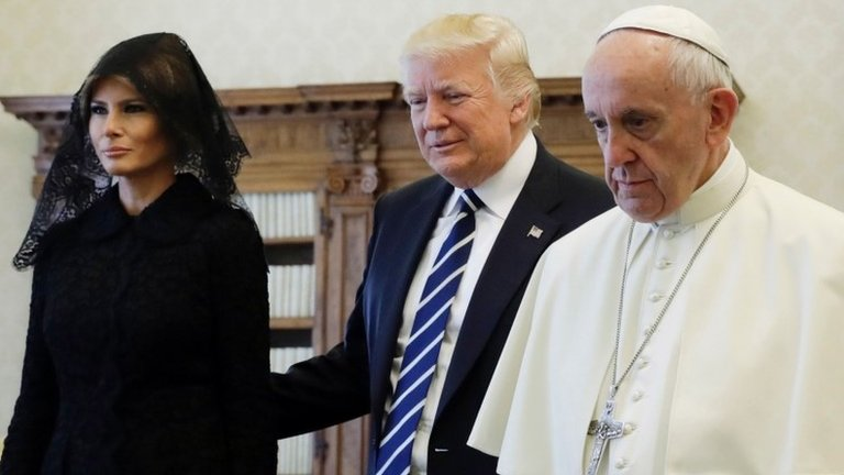 Trump holds first face-to-face talks with Pope Francis