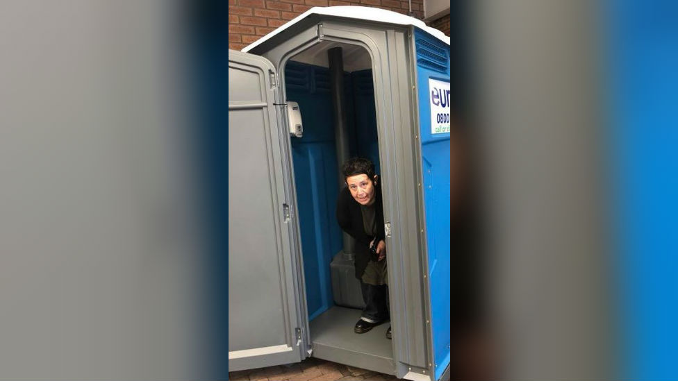 Woman's Cambridgeshire portable loo charity lock-in