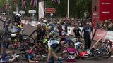 RideLondon Grand Prix crash