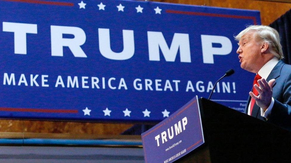 """Trump retomó su discurso de """"Estados Unidos primero"""" que hizo famoso durante su campaña presidencial."""