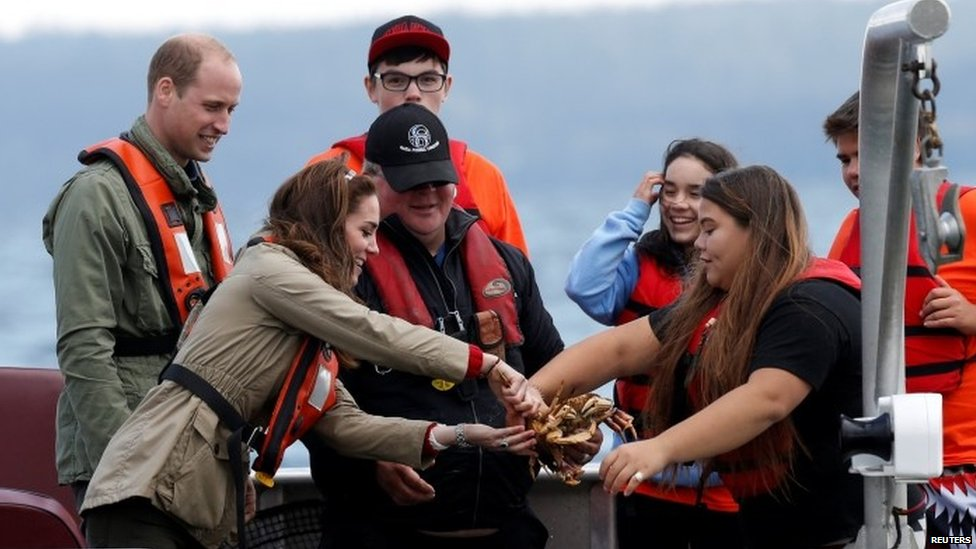 William and Kate go fishing in Canada
