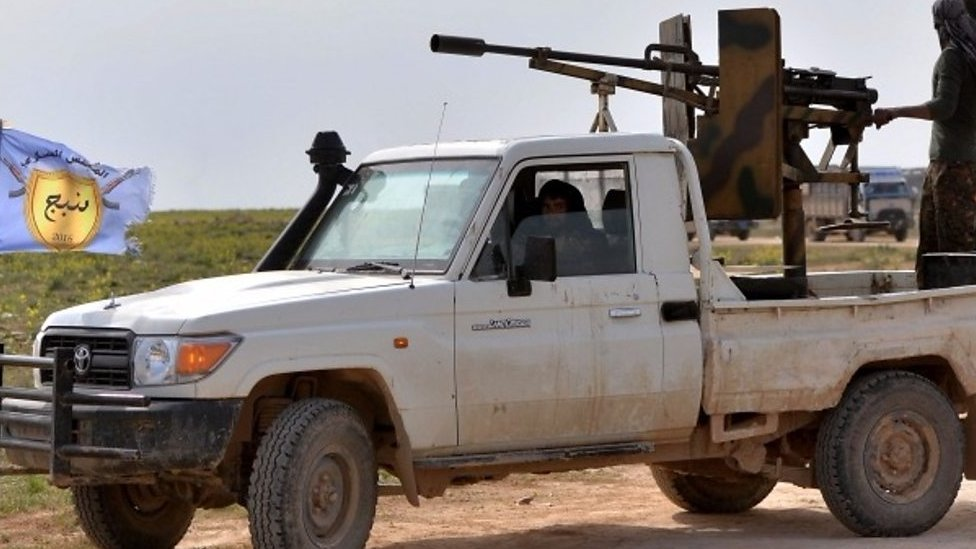 How is the end of the Islamic State group's caliphate being reported?