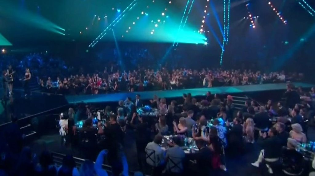 People's Choice Awards: Stars in tribute to wildfire victims | BBC