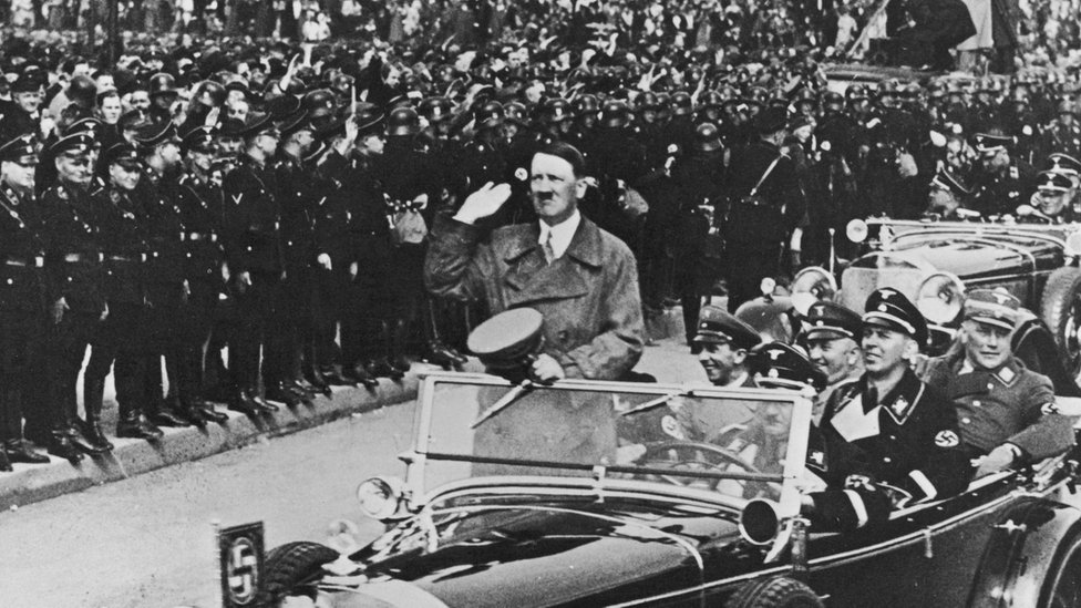 Adolf Hitler en Nüremberg, Alemania, 1938