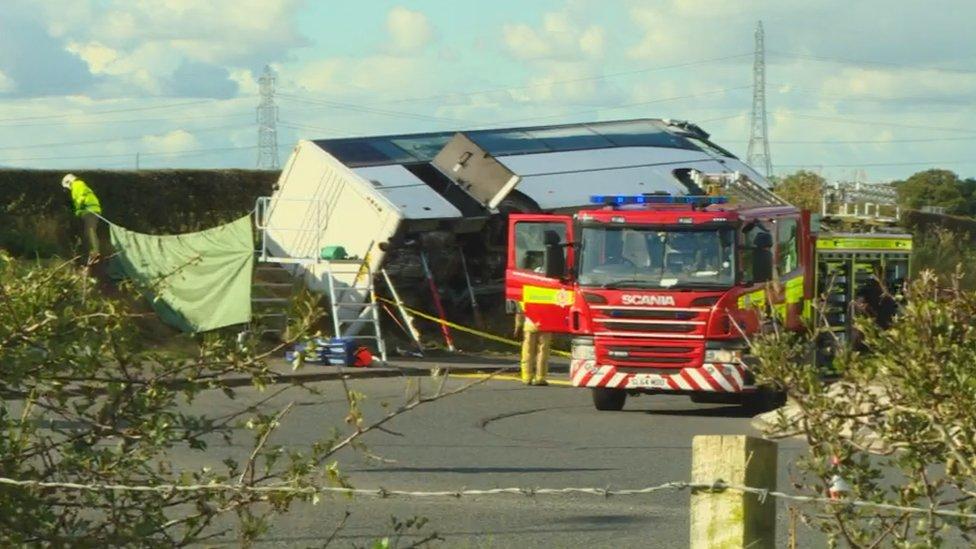 Eighteen in hospital after Rangers fans coach crash
