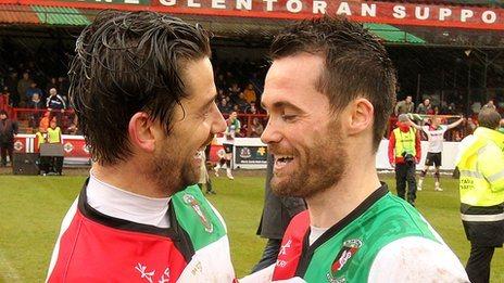 Curtis Allen and David Scullion of Glentoran