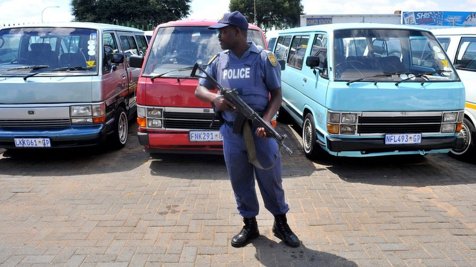 South Africa shooting: Eleven taxi drivers killed in ambush