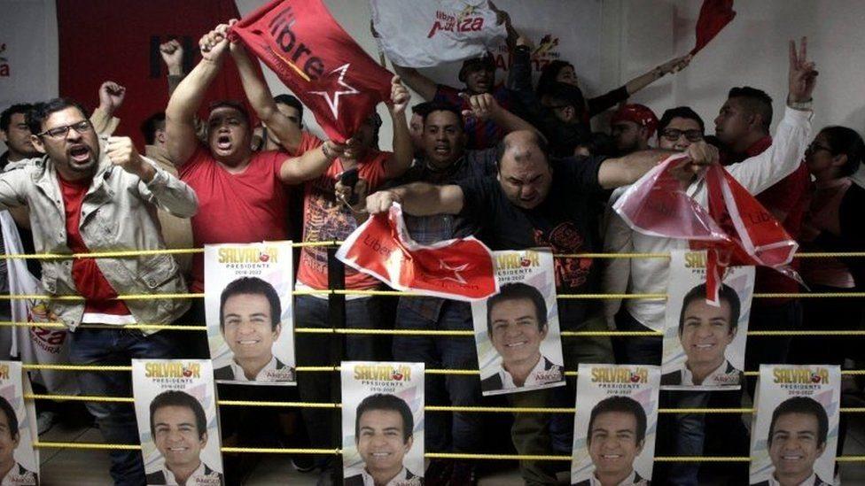 أنصار زعيم المعارضة في هندوراس سلفادور نصر الله