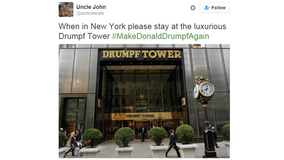 Photoshopped picture of Drumpf Tower