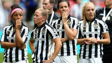 Notts County Ladies players after their Women's FA Cup final loss