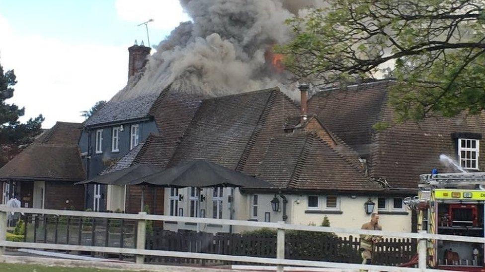 Poole Miller & Carter fire: Emergency crews tackle restaurant blaze