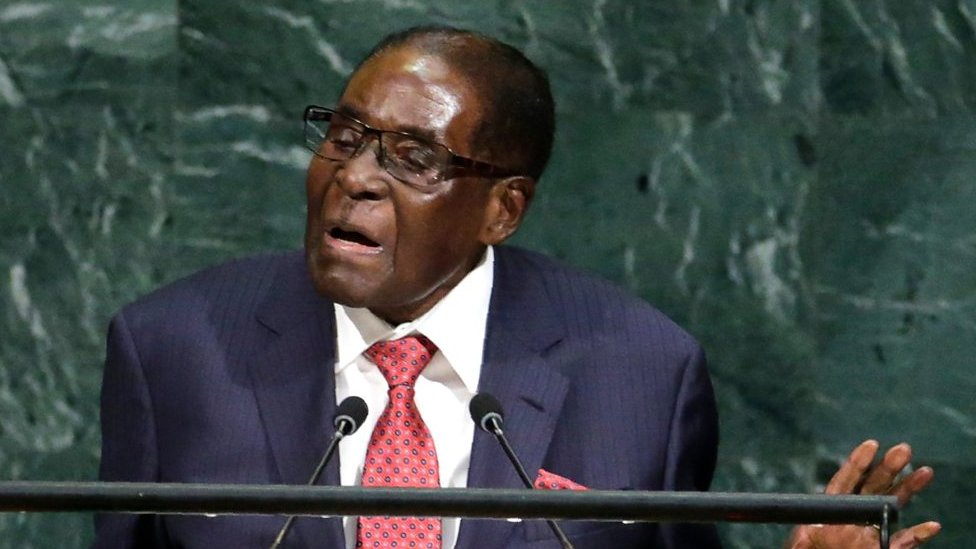 Zimbabwe's Robert Mugabe describes Donald Trump as a 'gold Goliath'