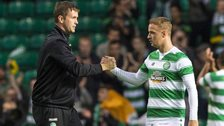 Celtic manager Ronny Deila and striker Leigh Griffiths