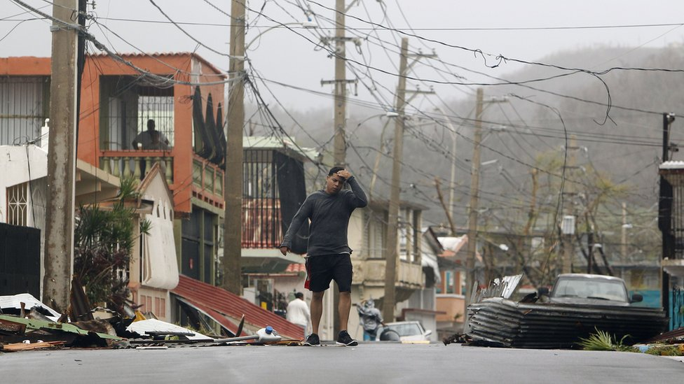 Maria aftermath on Puerto Rico